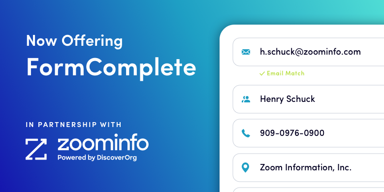 Now offering FormComplete, powered by ZoomInfo