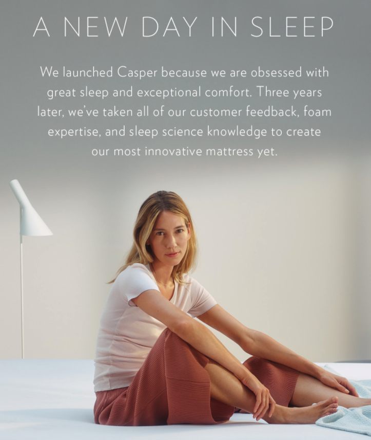 Customer loyalty program email example from Casper.